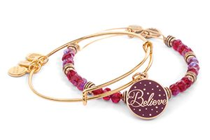 Win! Alex and Ani Believe Wine Art Infusion Charm Bangles