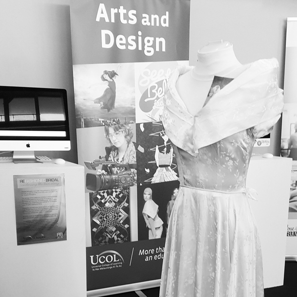 ReFashioned Bridal collection by UCOL student and Hospice Whanganui